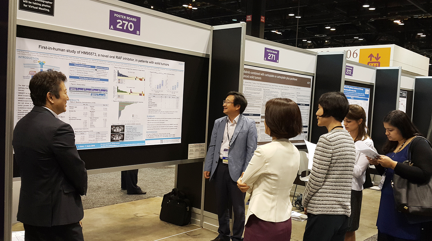 Hanmi presented the clinical trial results of two targeted anti-ancer drugs at ASCO.